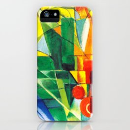 Franz Marc - Landschaft mit Haus, Hund und Rind - Landscape with House, Dog and Cattle iPhone Case