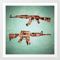 camouflage Art Prints featuring camouflage by Steve W Schwartz Art