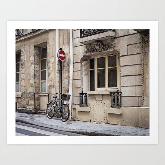 Parked at Ile Saint-Louis Art Print