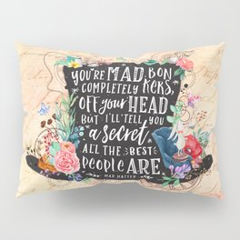Mad Hatter Pillow Sham