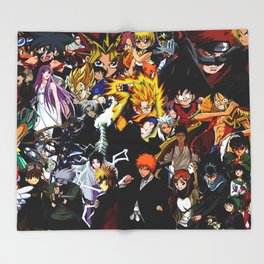anime all Throw Blanket