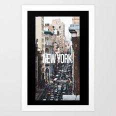 Streets of New York City Art Print