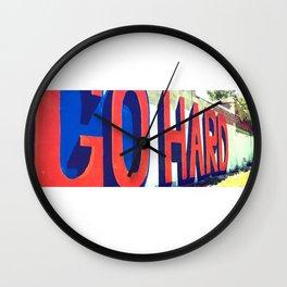 GO HARD | Corktown, Detroit Wall Clock