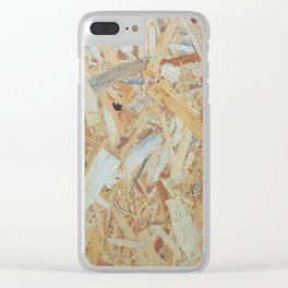 Just Plywood Clear iPhone Case