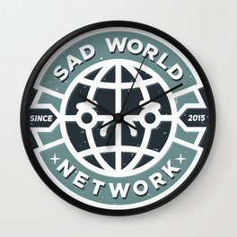 SAD WORLD NEWS NETWORK Wall Clock