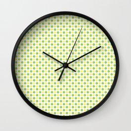 Yellow Lemon Green Fruit Pattern Wall Clock