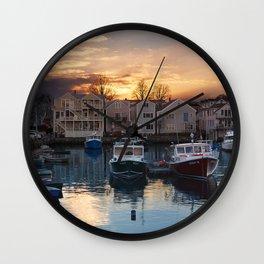 Rockport dock Wall Clock