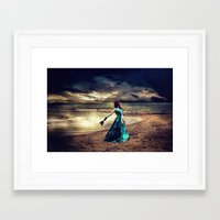 anonymous Framed Art Prints featuring Anonymous by Spoken in Red