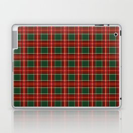 Christmas Plaid Pattern in Red and Green Laptop & iPad Skin