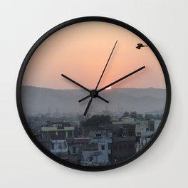 Birds Fly Over The Sun Wall Clock