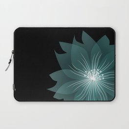 Blue flower on a black background . Laptop Sleeve