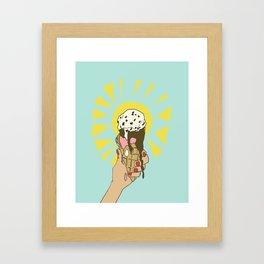 Hot Summer Day Framed Art Print