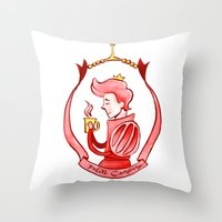 gumball Throw Pillows featuring Prince Gumball by Lydia Joy Palmer