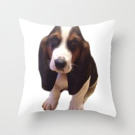 Bruno the Basset Throw Pillow