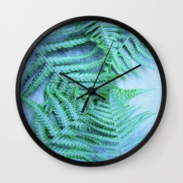 fern decor Wall Clock