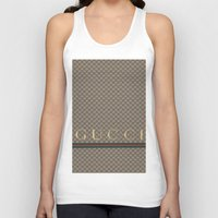 gucci Tank Tops featuring Gucci Class by Goldflakes