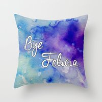 friday Throw Pillows featuring Friday by Jamie Marie Lyon