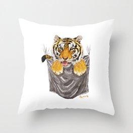 Pocket-Sized Gabrielle Tiger Throw Pillow