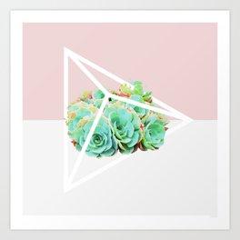 Succulent Poly Art Print
