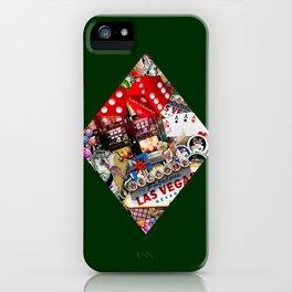 Diamond Playing Card Shape - Las Vegas Icons iPhone Case