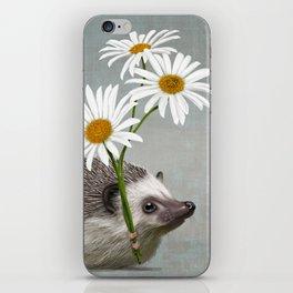 Hedgehog in love iPhone Skin