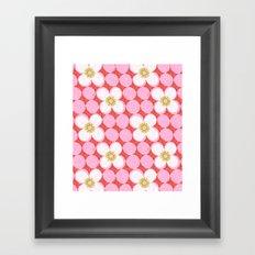 dotty flowers Framed Art Print