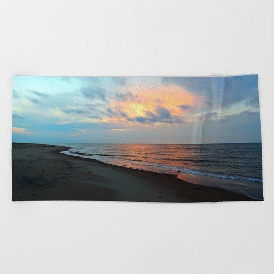 PEI Sandy Beach Sunset Beach Towel