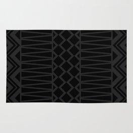 Black on Black Tribal Rug
