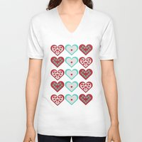 valentine V-neck T-shirts featuring Valentine by Heaven7