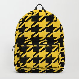 Yellow Houndstooth Backpack