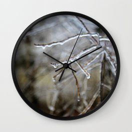 Icy Branches #6 Wall Clock