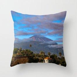 Volcano Teide on Tenerife Throw Pillow
