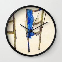 Egon Schiele - Chairs (new editing) Wall Clock