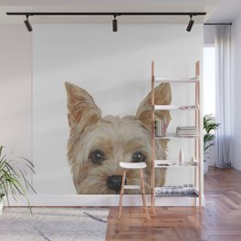 Yorkshire 2 Dog illustration original painting print Wall Mural