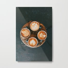Fall Latte Metal Print