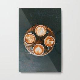 Fall Latte Metal Print