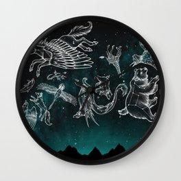 Midnight Menagerie Wall Clock