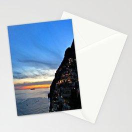 Amalfi Coast Positano, Italy at Sunset Stationery Cards