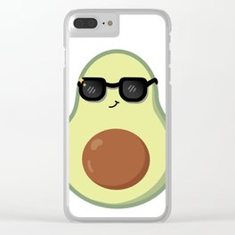 Avocado with Sunglasses Clear iPhone Case