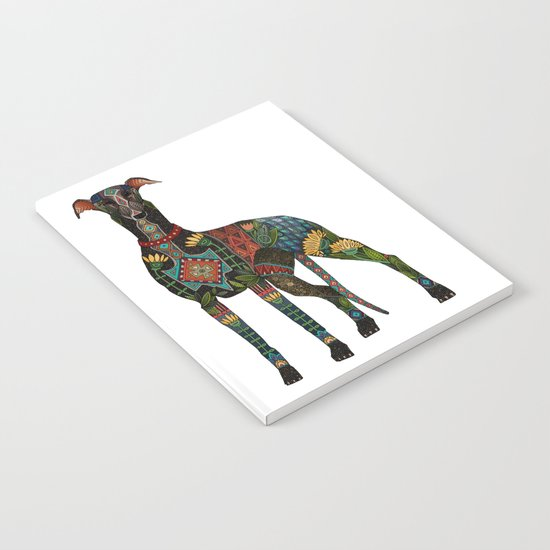 greyhound white Notebook