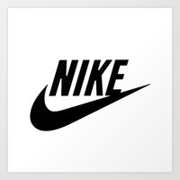 nike Art Prints featuring NIKE by I Love Decor