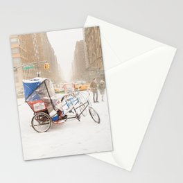 NYC Snow Day on Central Park West Stationery Cards