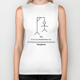funny hangman - IUPAC - chemistry - molecule - black Biker Tank