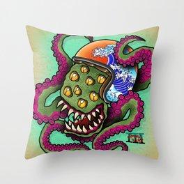 Monsta Rider Throw Pillow
