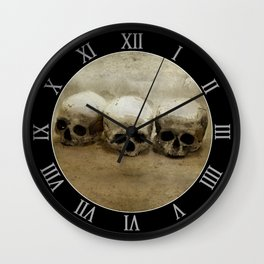 Three skulls Wall Clock