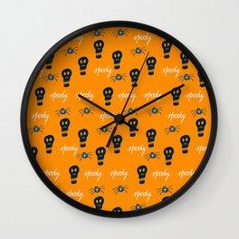 Halloween boo sculls Wall Clock