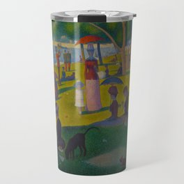 A Sunday Afternoon on the Island of La Grande Jatte Painting by Georges Seurat Pointillism Travel Mug