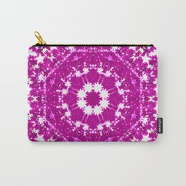 Pink Starburst Mandala Carry-All Pouch