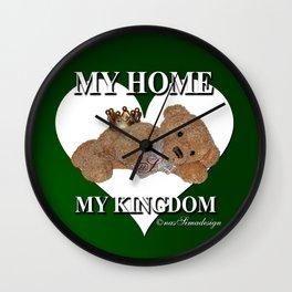 My Home, My Kingdom - Green Wall Clock