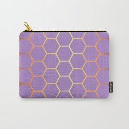 Golden Honeycomb Geometric Pattern Carry-All Pouch